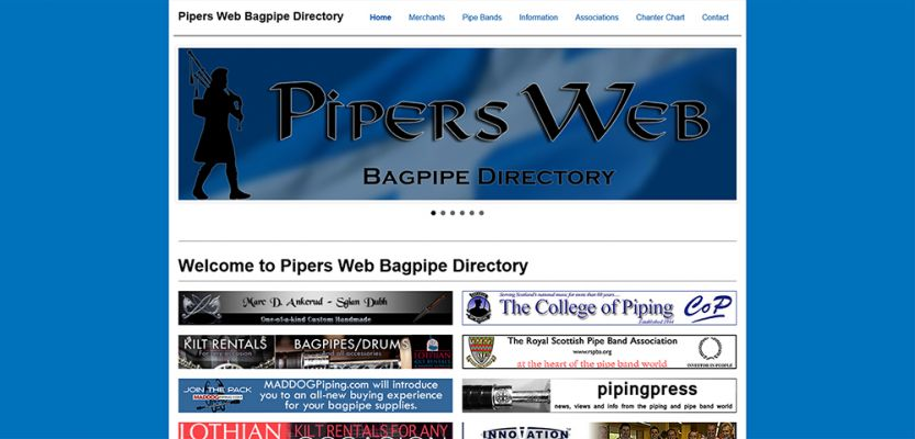 Pipers Web - Bagpipe Directory
